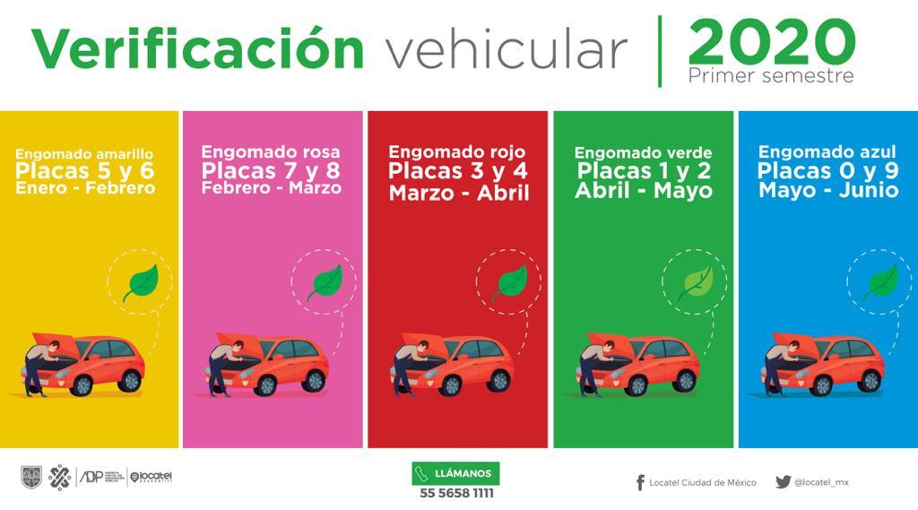 ¡No dejes tus trámites al final, que no te gane el tiempo! ⏰Recuerda que deben verificar vehículos con engomado rosa y terminación de placa 7 y 8. ¡Haz tu cita!Click aquí: http://bit.ly/2RU5vRs