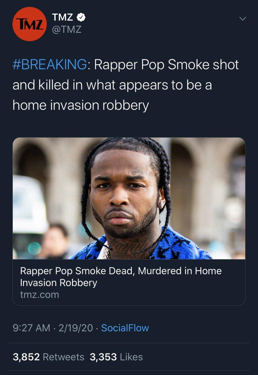 2020 is trash 🗑 RIP Pop Smoke 😔🙏🏻