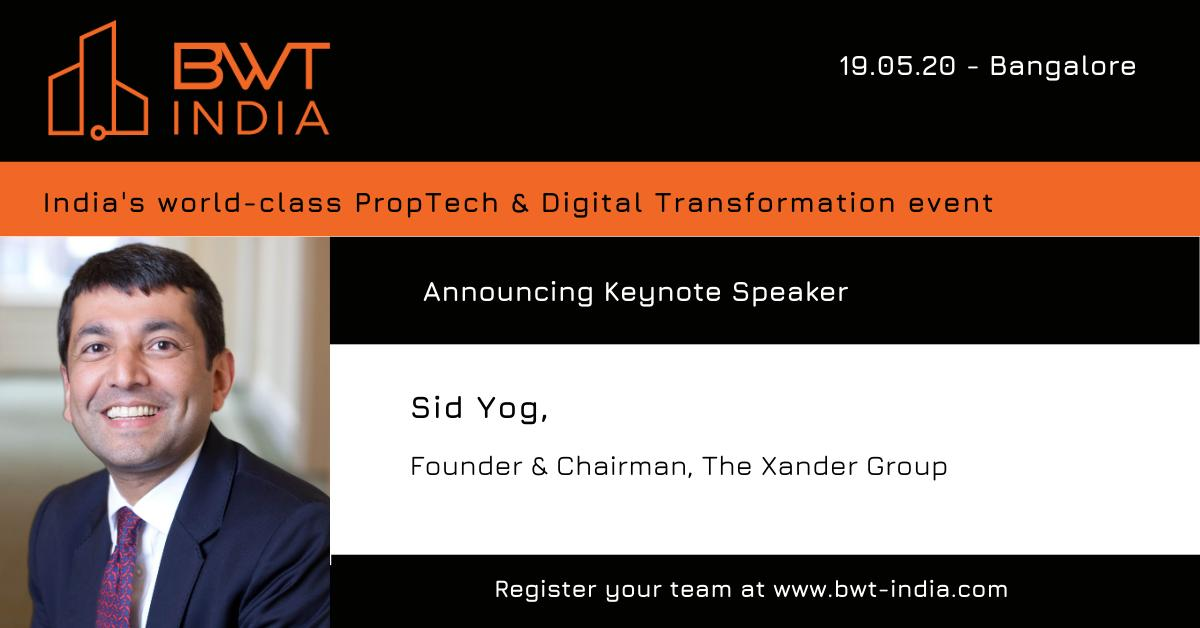 Our Founder and Chairman, @SidYog, will deliver the #keynote at the @BuiltWorldTech Alliance India on May 19th.  We are delighted that Professor Yog will publicly share his views in Bengaluru, also our India headquarters, for the very first time.   #VirtuousRetail #ProfessorYog https://t.co/FGv2tOZjeD
