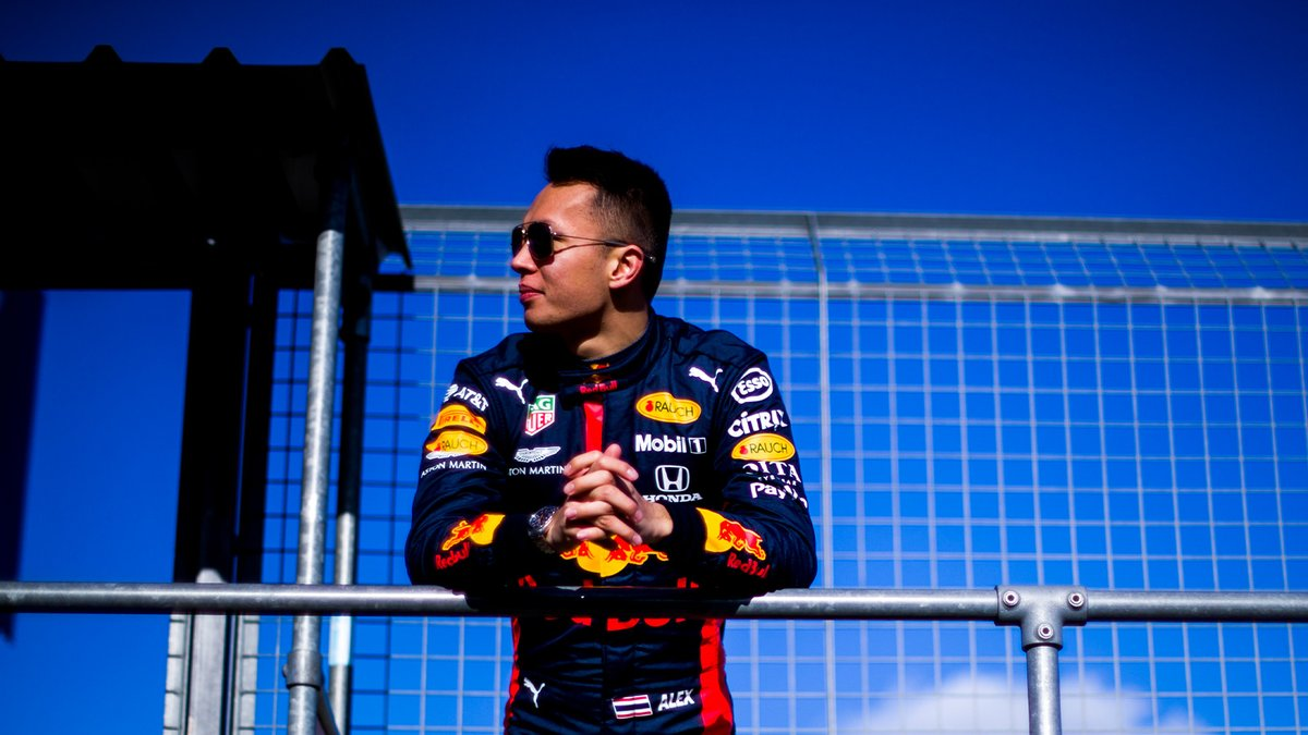 Patiently waiting for his turn tomorrow @alex_albon 😎 #F1Testing