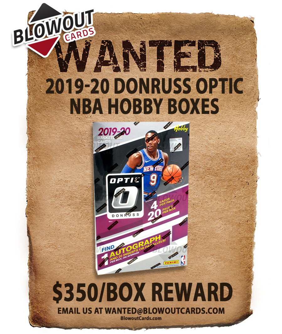 Today's updates so far ...   There are 70+ past Panini boxes in the Blowout's Most Wanted Megapost -- see all here >>  #collect  @PaniniAmerica #TheHobby #NBA #NFL #MLB #FOTL #ZionWilliamson