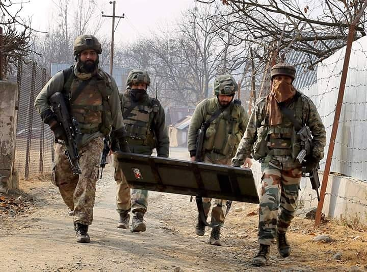 Rashtriya rifles of #IndianArmy Special Operations Group (SOG) have neutralised 3 terrorists in Diver village of Tral in #Pulwama district of south #Kashmir.