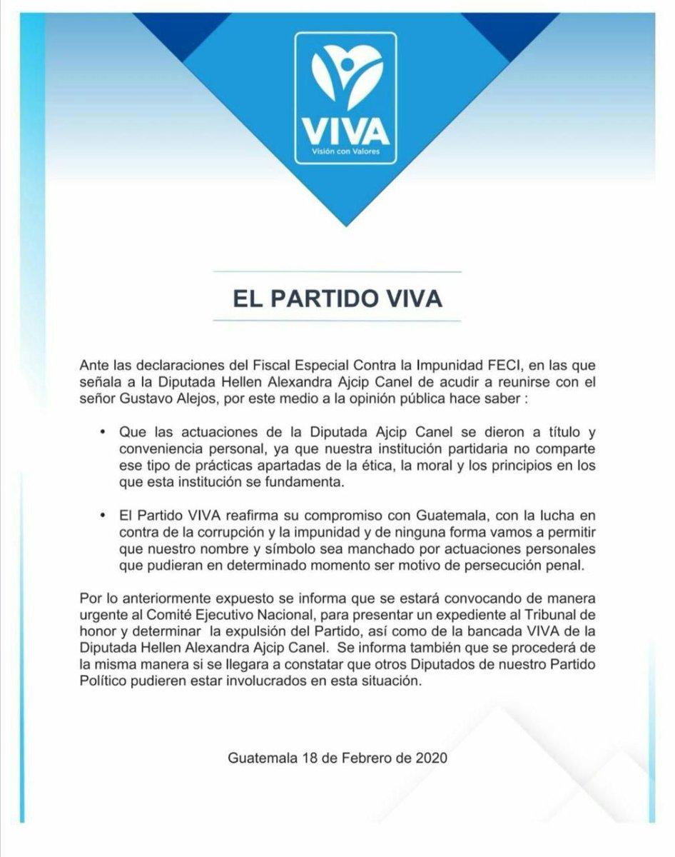 test Twitter Media - El partido político Viva critica a su diputada y dice que no comparte prácticas antiéticas. https://t.co/r0A4KbfkaT