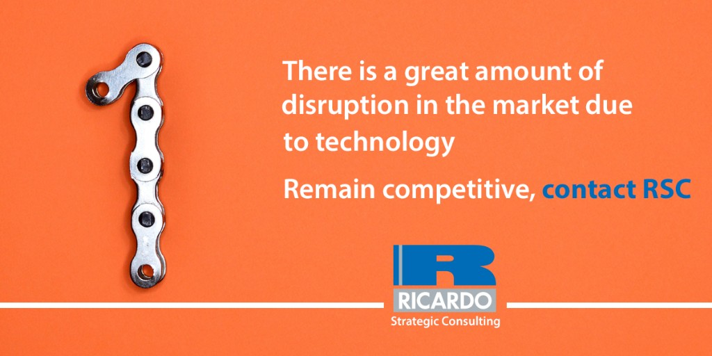There is a great amount of disruption in the market due to technology. Remain competitive with RSC.   #Ricardo #ricardostrategicconsulting #rsc #disruption #planforsuccess
