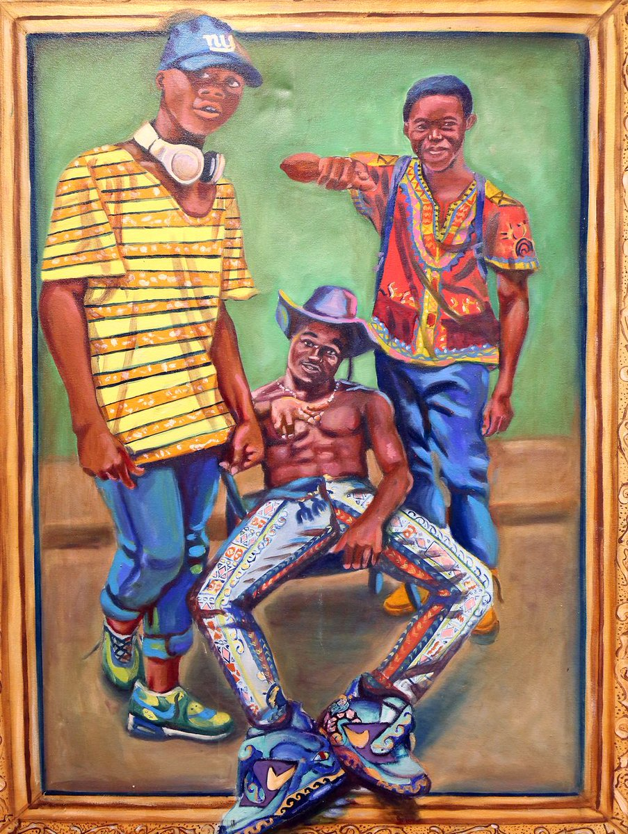 """Don't miss the opening reception for """"Hybridity: Redefining Tradition,"""" on Feb. 19 at 5 p.m. in the Mildred I. Washington Art Gallery. """"Hybridity"""" showcases the paintings, drawings & sculpture/woodworking that bridge the gap between Africa and the Americas by DCC alum Manny Ofori"""