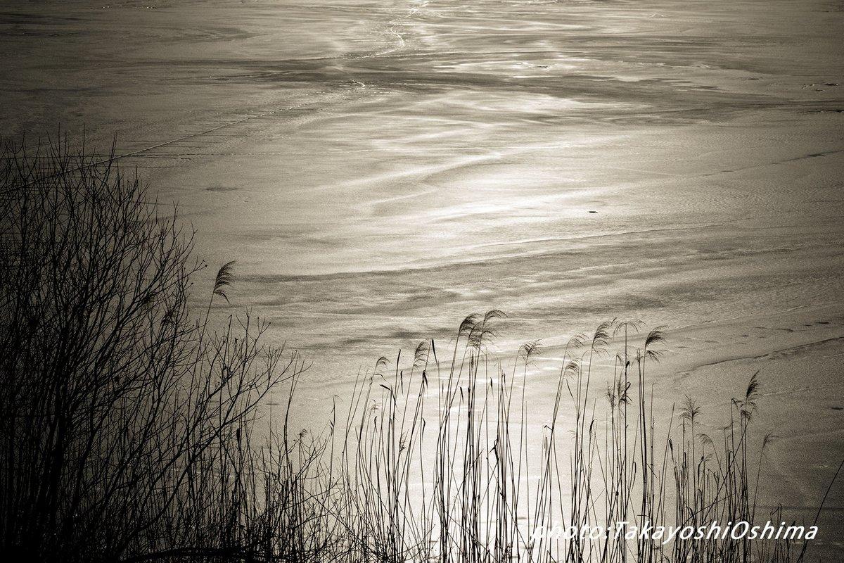 氷結した湖を西陽が力強く照らす #長野県 #冬の夕景 #風景写真 #山岳風景 #photogenic https://t.co/QCL8sc5Hwf