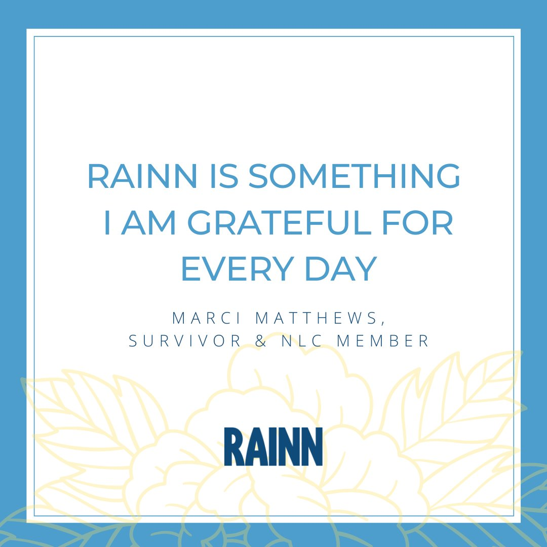 RAINN National Leadership Council member @MarciGoLightly is so passionate about supporting organizations like RAINN, who are there for survivors with the resources and support they may not have access to otherwise. ⁠Read her interview: