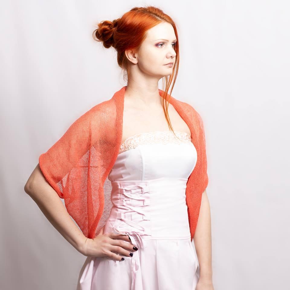 #Knit #Linen #Bolero #Jacket #Natural #Linen #Coverup #Wedding #Cardigan #handmade #shrug  @Etsy