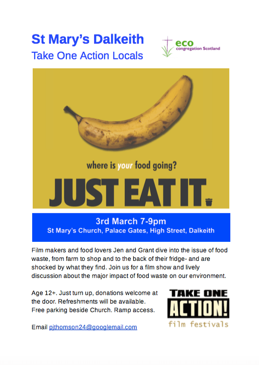 Where is your food going? JUST EAT IT- Film makers Jen and Grant dive in to the issue of food waste- see their film and join the discussion. On Tuesday 3.3.20 from 7-9pm at St Mary's, Dalkeith #food #environment