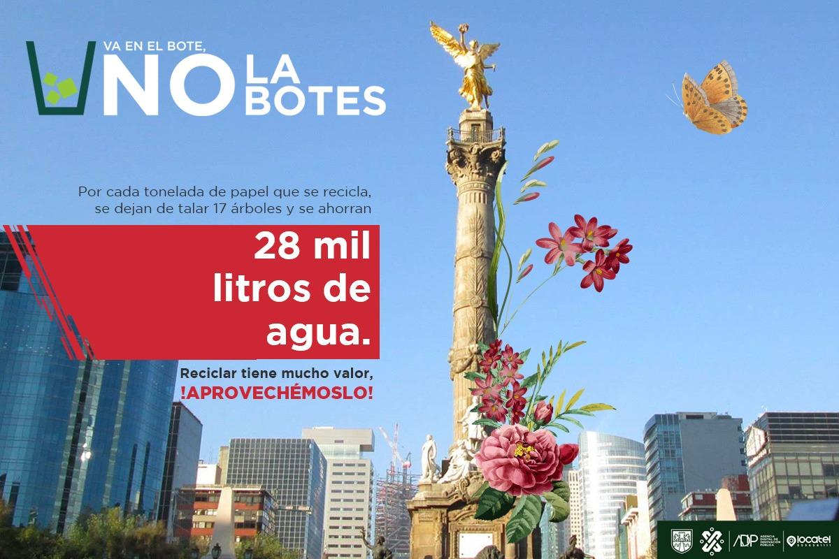 Salvemos a la #CiudadDeMéxico. 🤝🌎Tira la basura en su lugar, es una tarea muy sencilla y el beneficio es gigante. 🌞¡Cuida el #MedioAmbiente! 🌿🌳🌾🌻Reporta en el SUAC basura que encuentres en la vía pública 🗑🚮♻. Ingresa a https://bit.ly/2KihXZq