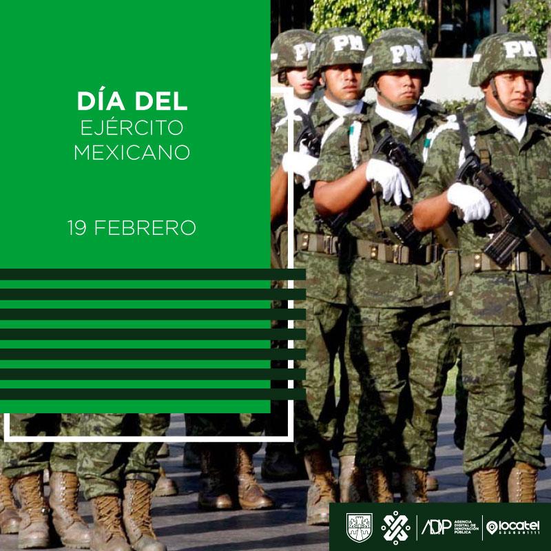 ¡Hoy se conmemora el #DíaDelEjércitoMexicano! ✈Institución conformada por fuerzas militares, terrestres y aéreas; celebremos a quienes con valor, entrega y lealtad, salvaguardan nuestro país. 🥇🥈🥉
