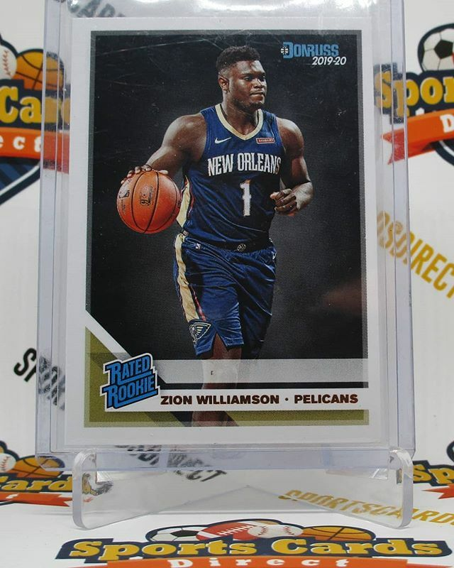2019-20 Donruss #201 Rated Rookies Zion Williamson for sale.  #ZionWilliamson #NewOrleans #Pelicans #RookieCard #thehobby #whodoyoucollect #paniniamerica @hobbyconnector #tradingcards
