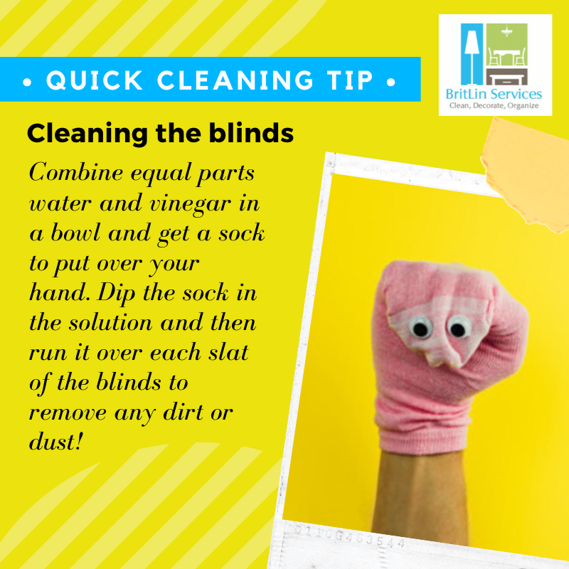 Here's a quick tip for cleaning blinds for a brighter home!   Contact BritLin Services to add some sparkle!    Contact us at  (512) 627-7172 or visit http://www.britlinservices.com   #BritLinServices #CleaningTips #QuickTip #cleaningservice #clean #housecleaningpic.twitter.com/UxTPzuZcPq