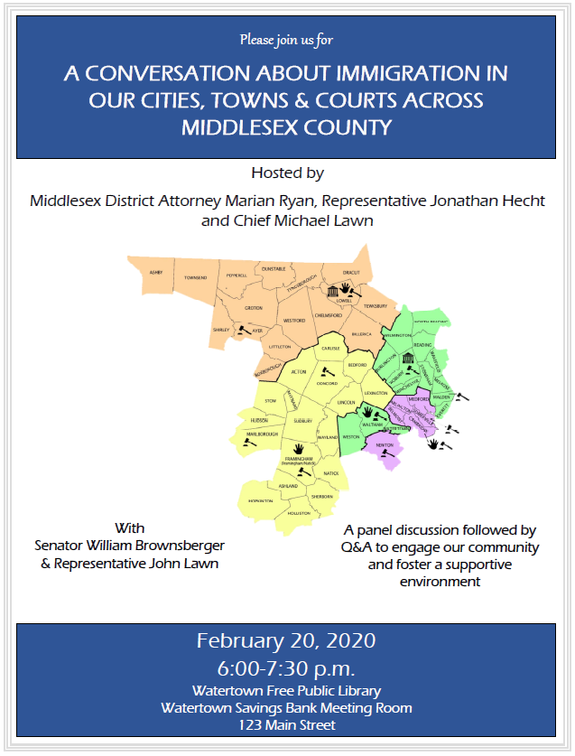 I'm co-hosting an event tomorrow night at the Watertown Library with @DAMarianRyan and Police Chief Lawn. I hope you can join us. https://t.co/uauSVACTr3