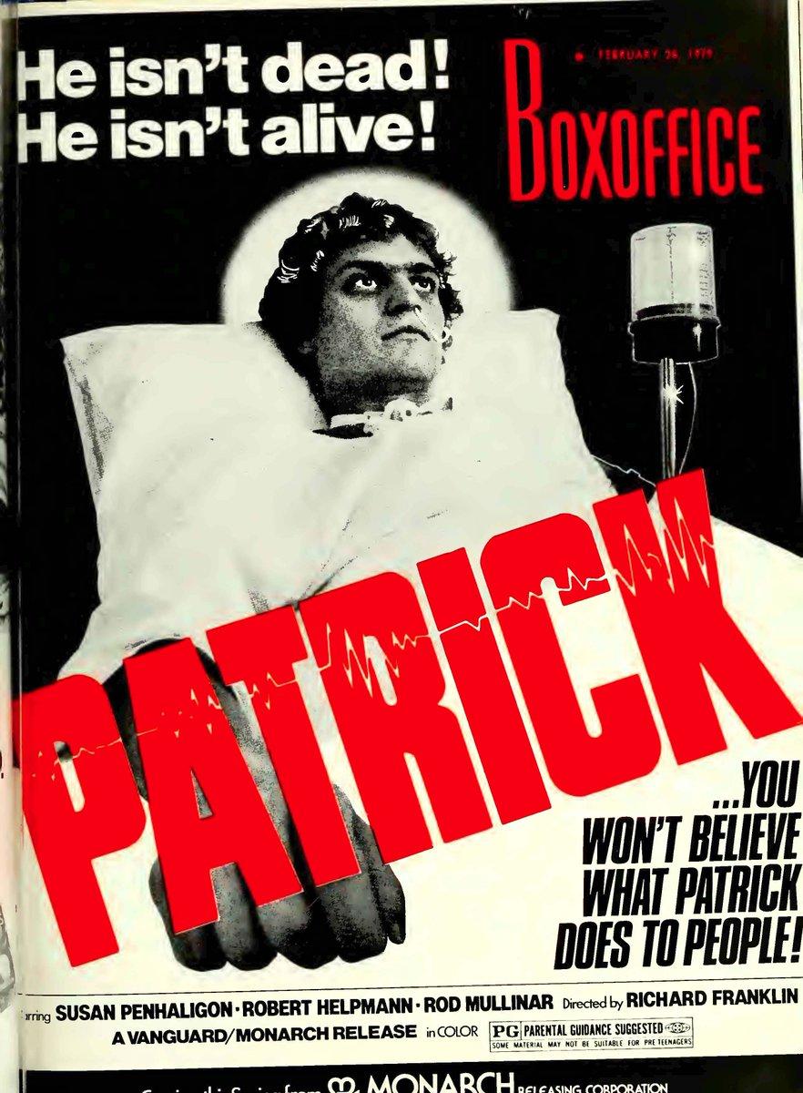 PATRICK (1978) #horror #scifi #Ozploitation #poster pic.twitter.com/pd4pmKjow1
