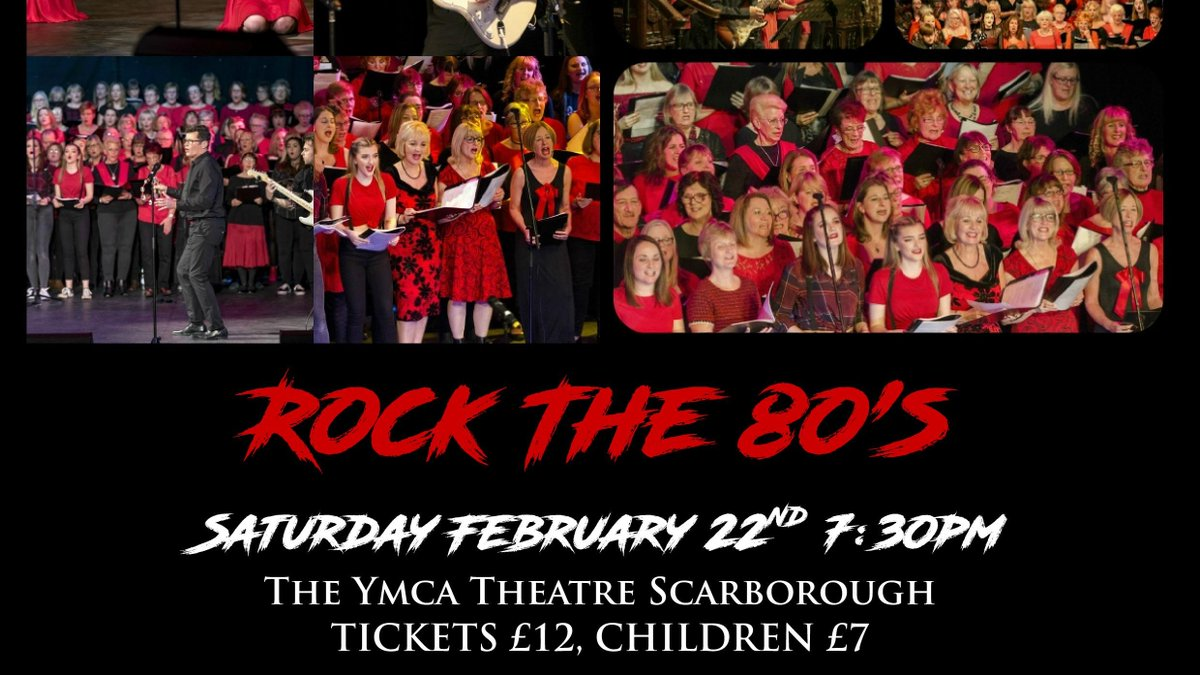We're pretty excited about this - under 40 tickets left if you fancy joining us in reliving some of the best music of the 1980's #Scarborough #live #event #music #weekend #NorthYorkshire #yorkshirecoast  @YMCAScarborough