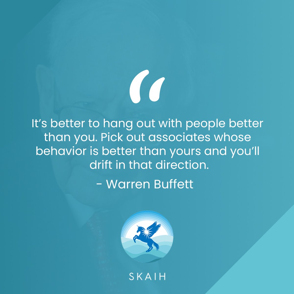 It's better to hang out with people better than you. Pick out associates whose behavior is better than yours and you'll drift in that direction ~Warren Buffett~  #BEALEADER #UNDERSTANDYOURWORTH #PAVETHEWAY #MOTIVATOR #MILLIONAIRESTATUS #LIVEOUTGODSPURPOSE #GODSGRACE #SKAIHpic.twitter.com/Yllcc3mgqt