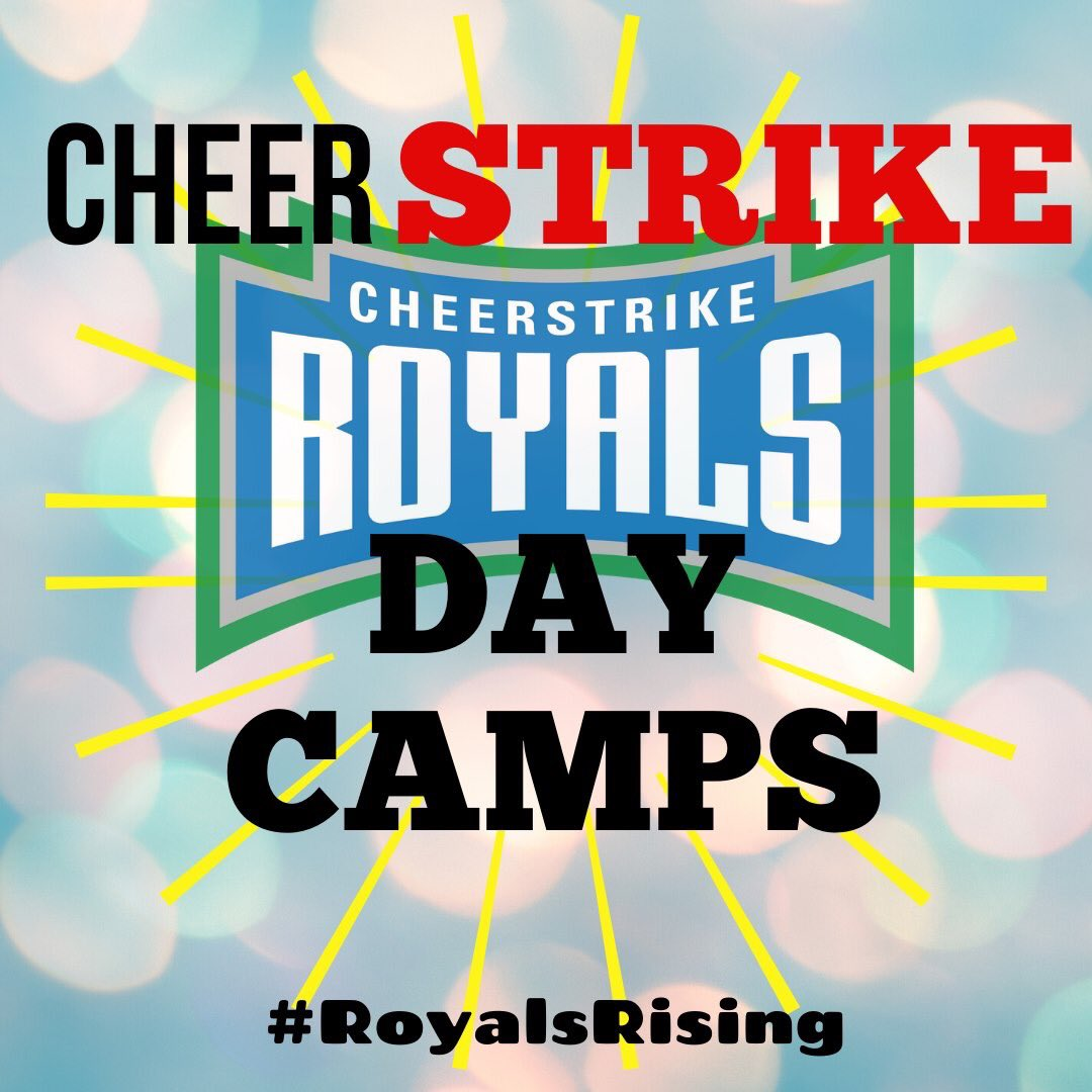 A few spots left in camp for this FRIDAY!  Register here https://cheerstrikeroyals.com/camps/ #daycamp #strike #teacherstrike #childcare #cheer #ldnont #strike2020pic.twitter.com/AJJ1L1mupR