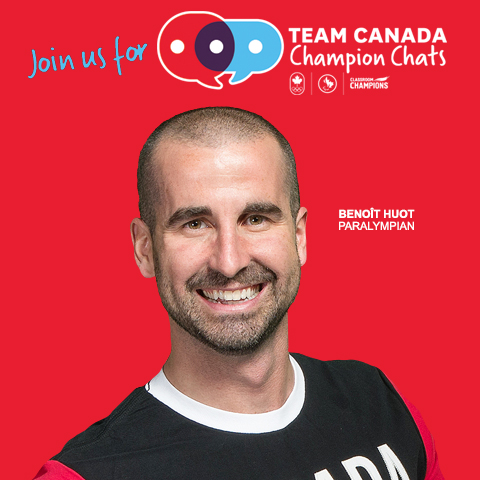 We all know @benhuot as the amazing host of the Paralympic #SuperSeries, but now he is also hosting the @ClassroomChamp Chats with Olympian @tessavirtue! Click here to register: https://championchats.olympic.ca/#register pic.twitter.com/5jC4IHMOPC
