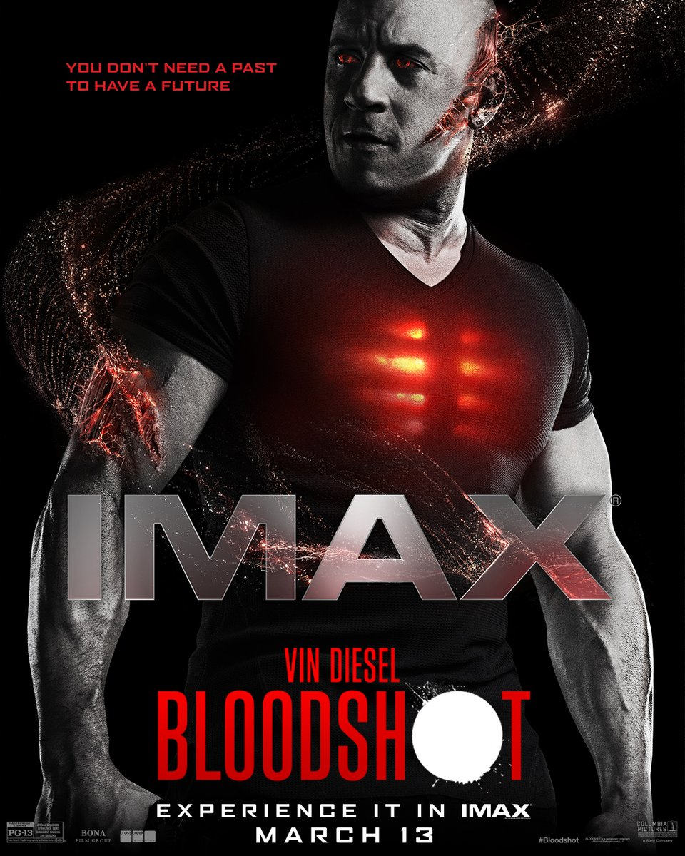Your movie experience just got upgraded. Feast your eyes on the exclusive #Bloodshot @IMAX artwork. 🔴 Coming to #IMAX theaters March 13.