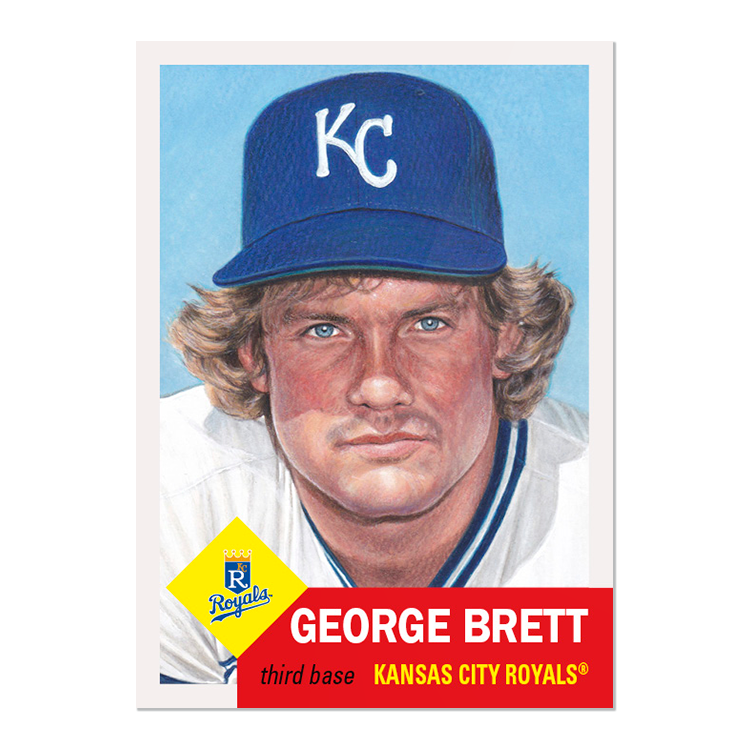 Week 102 of the #ToppsLivingSet!  #287 George Brett, Kansas City Royals #288 Mike Minor, Texas Rangers