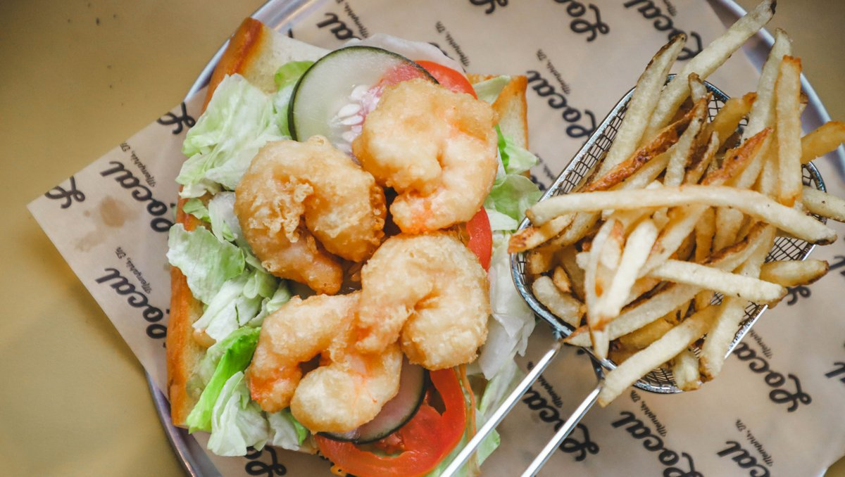 Almost time for #LunchBreak! 🍤 Spend it at LOCAL – we've got daily soups and sandwiches in Midtown, and pints are $2 off every Wednesday 🍻