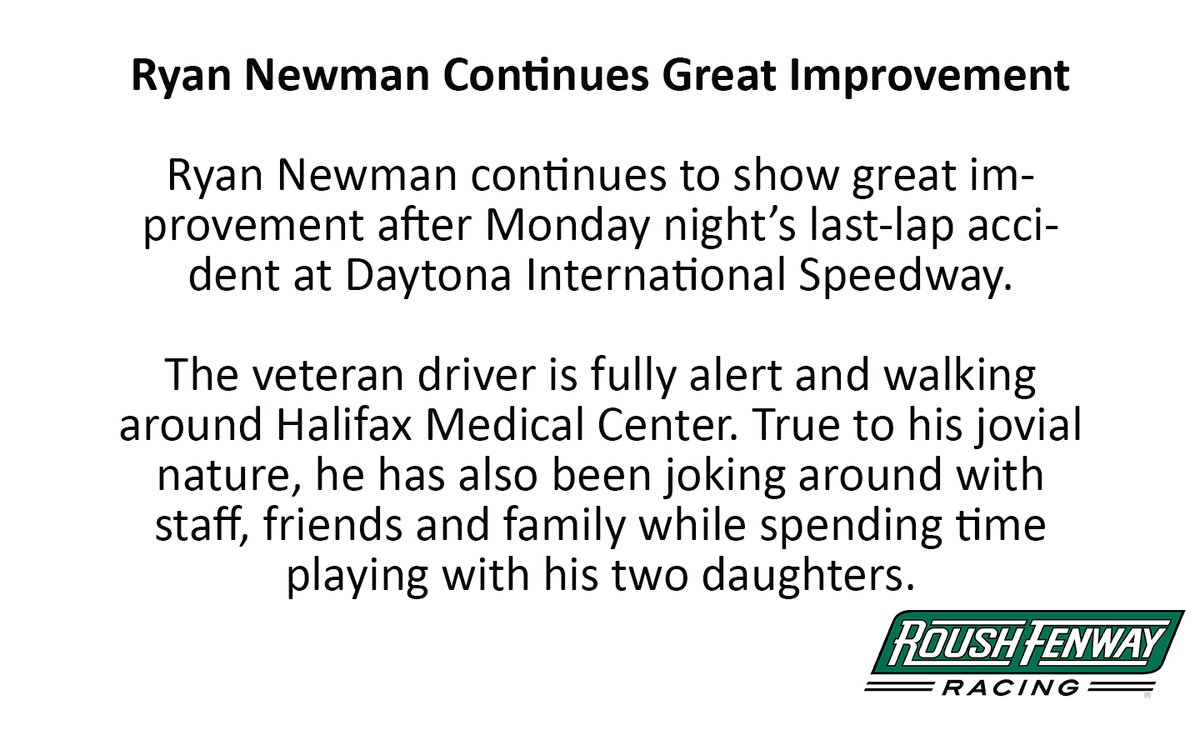 Ryan Newman Continues Great Improvement: