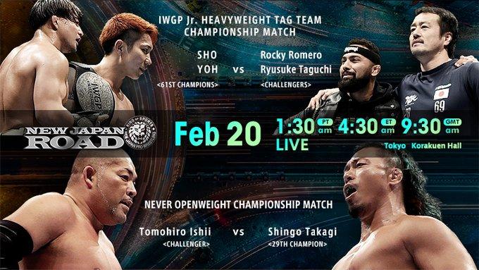 Cobertura: NJPW New Japan Road (20/02/2020) – When the Stone Pitbull meets the Dragon!
