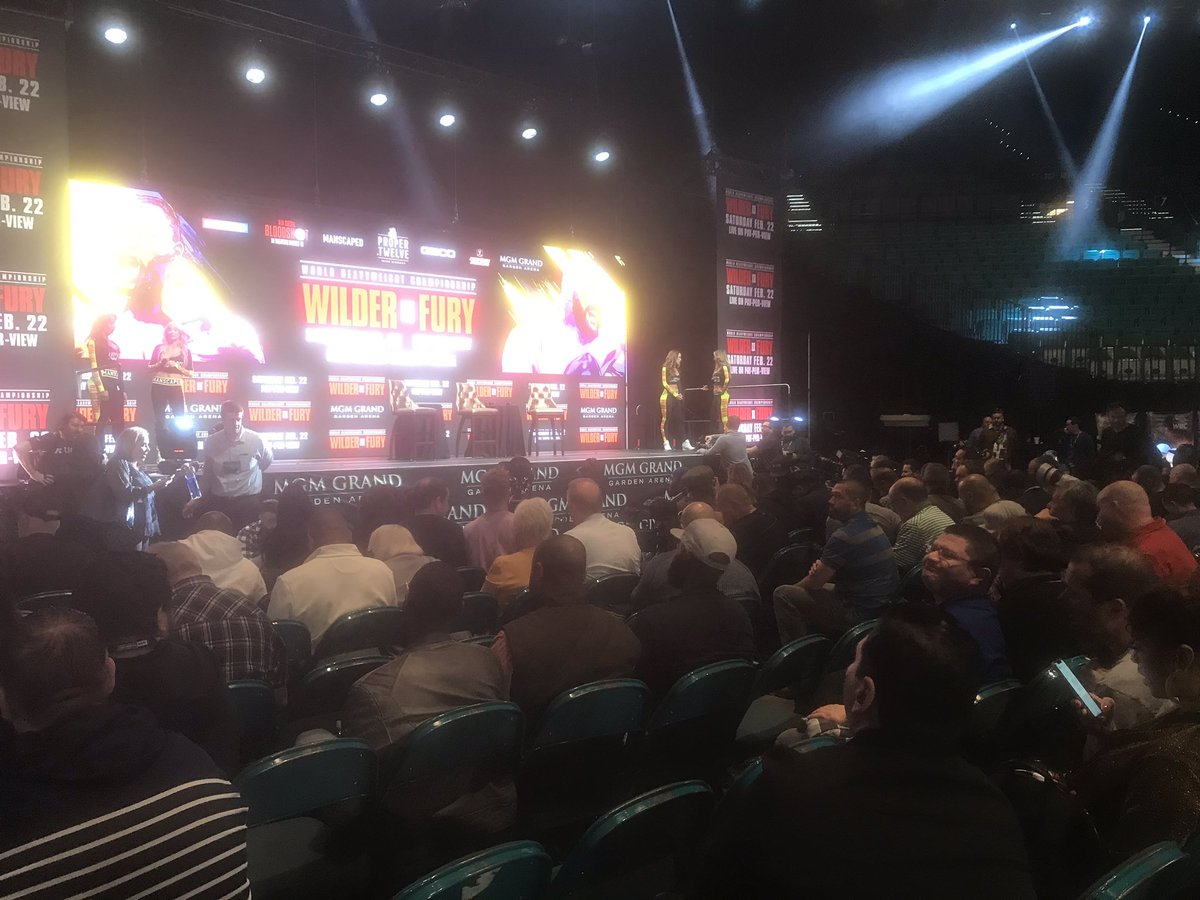 The #WilderFury news conference is getting underway. You can follow it live right now on BBC Sport here: https://www.bbc.co.uk/sport/live/boxing/51564695… #boxing #bbcboxing