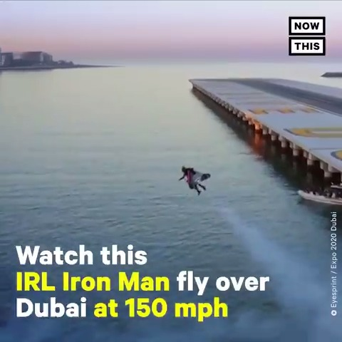 Real-life Iron Man Vince Reffet just broke a new record by taking off from the ground and flying over Dubai