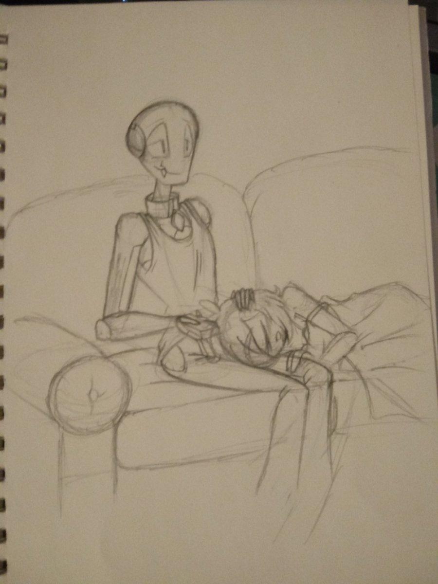 Here is the cuties doing some Late Night Surfing. #ProjectSugar #UnoEyisha #RusselDeegan #sketch #doodle #wip #monster #monstergirl #monsterboy #alien #alienboy #robot #robotboy #bug #bugboy #watchingtv #tvsurfing #cartoonpic.twitter.com/8Ja3hicazY