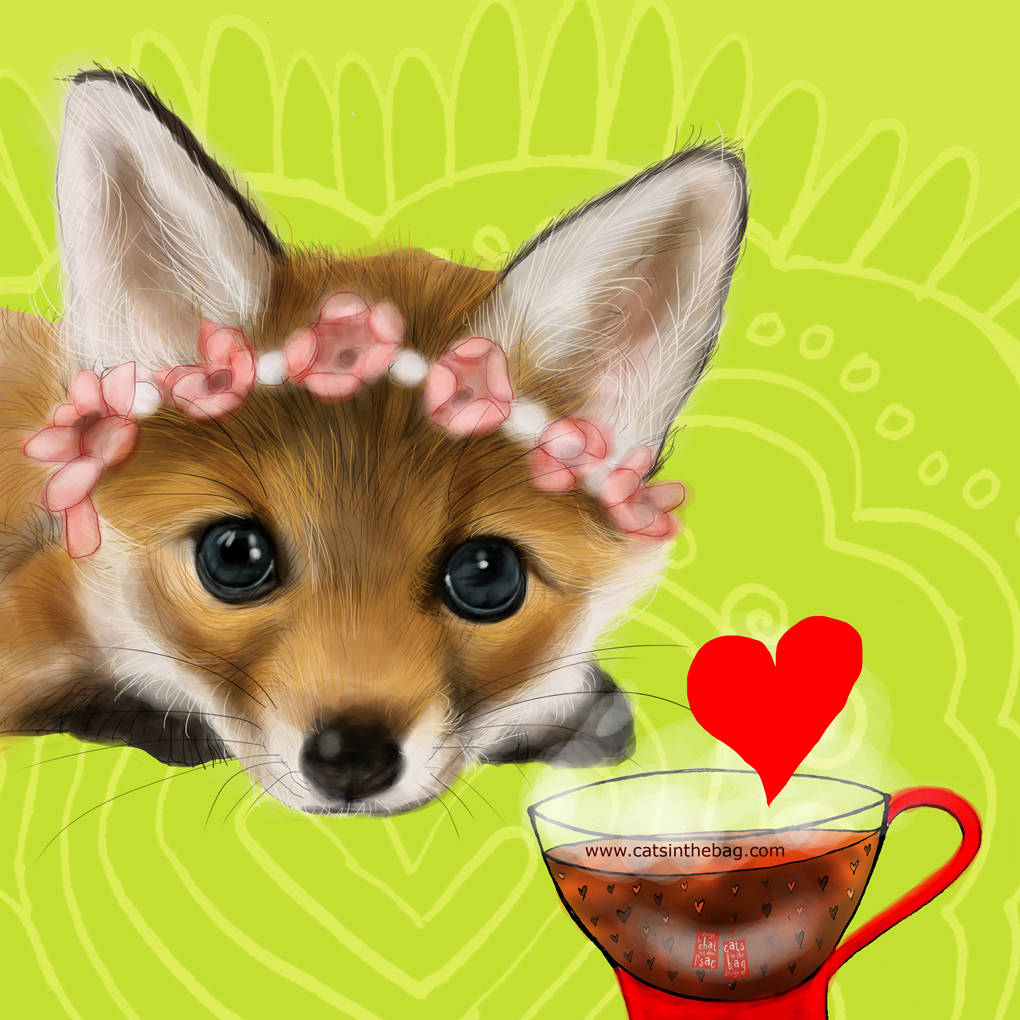 A magnificent fox – yes, you are ! What my #coffee says February 19  #fox #foxes #foxy #foxlovers #storyteller #illustrator #creative #magnificent #beautiful #artful #creafty #mentalhealth #wednesdaywisdom #love #selflove