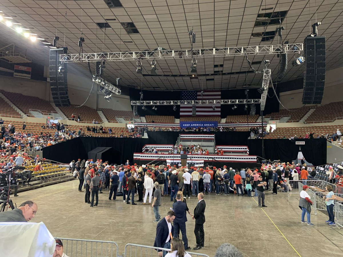 The doors are open for President Trump's Keep America Great rally at the AZ State Fair Grounds.