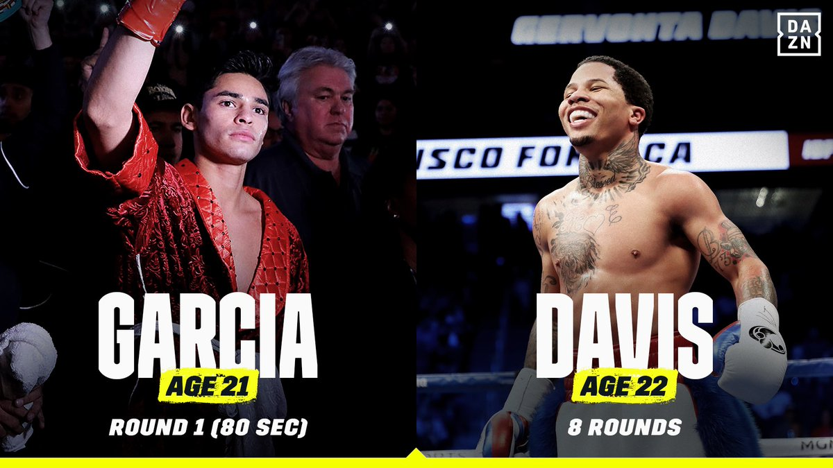 A comparison between Ryan Garcia and Gervonta Davis' fights vs. Francisco Fonseca. 📊