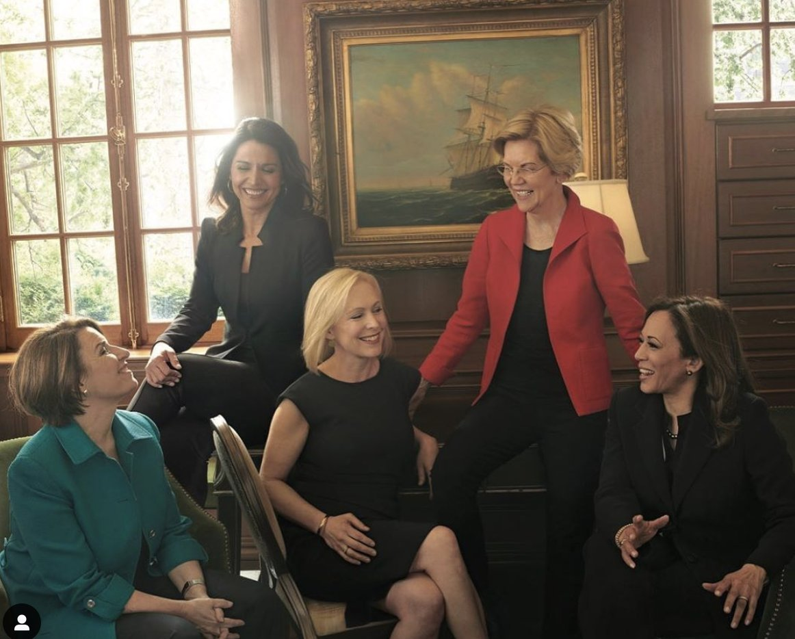Here's a brief reminder to @MSNBC et al: These are 5 different, extraordinary women. I'm already sad not to have the opportunity to vote for @SenGillibrand  or @KamalaHarris, in part due to your sexist coverage. Don't erase @ewarren or @amyklobuchar - both leading candidates!