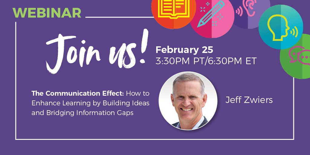 Register for Jeff Zwiers' FREE webinar to hear about how to improve ALL dimensions of learning using the three main features of #AuthenticCommunication http://ow.ly/SoMP50yfJH9pic.twitter.com/Zfmm7IBF7M
