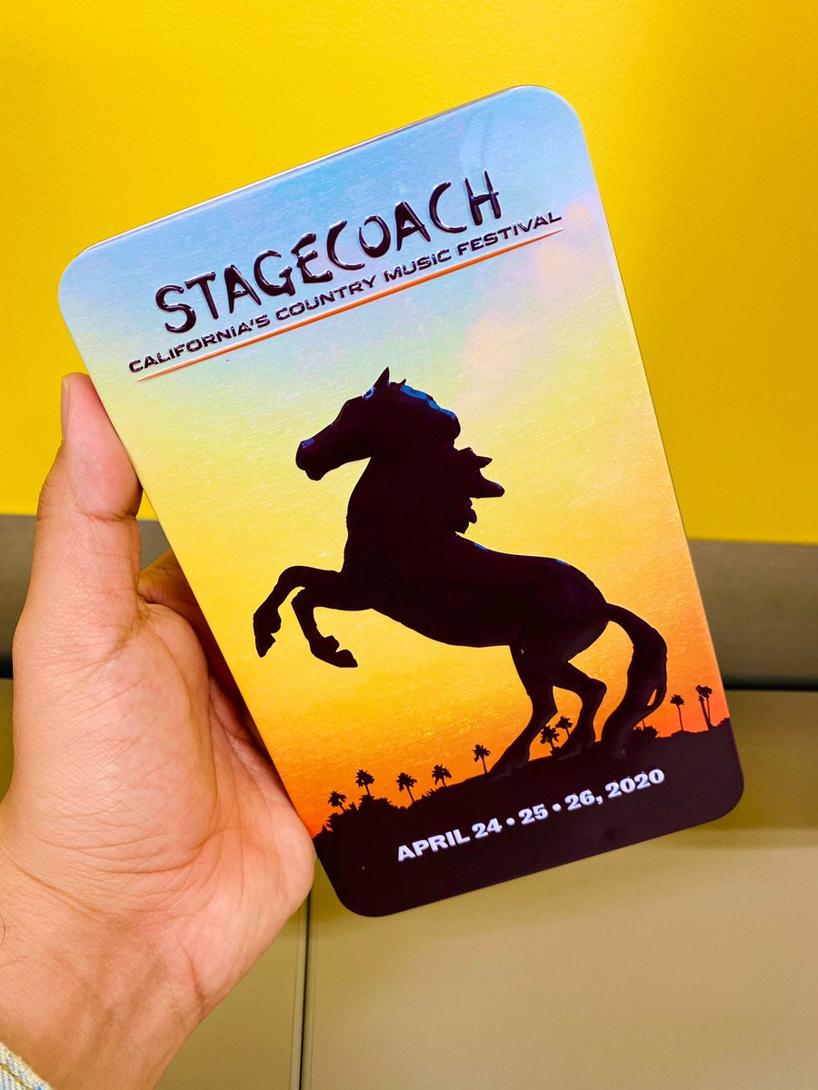 Yeehaw! I got my @Stagecoach wristband! Two more months! 🤩🤠🌴 #Stagecoach