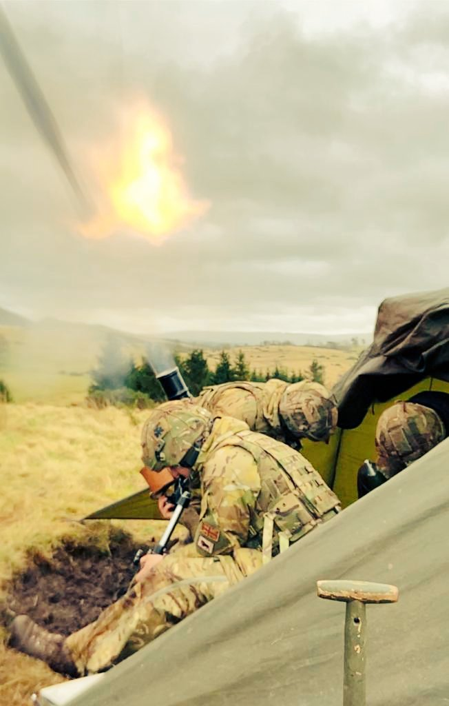 1 R IRISH soldiers prepare to take on Very High Readiness duties once again in support of @NATO as part of the #VJTF. Here the Mortar and Machine Gun Platoons hone their skills in Warcop to provide the Battalion's #Firepower. [OC C]