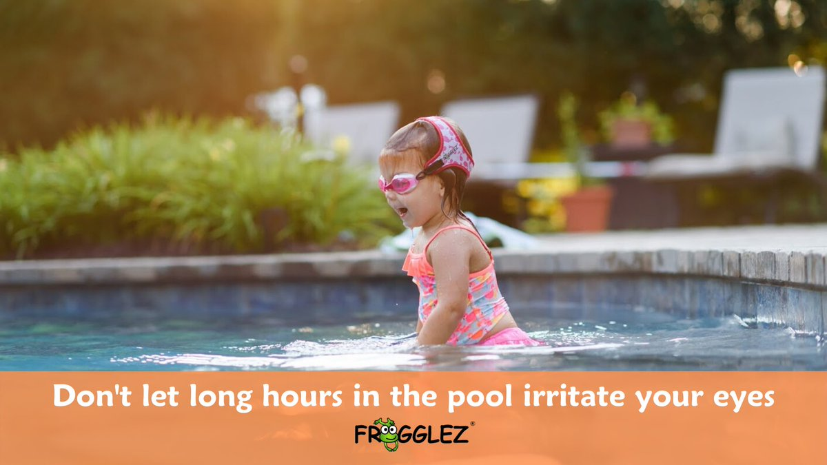 Frogglez goggles protect your eyes from dirt, debris, pool chemicals...and whatever else is in the swimming pool.   #Swimming #LearnToSwim #PoolDay #SwimGoggles #Fun #Summer #SpringBreak #GogglesOn