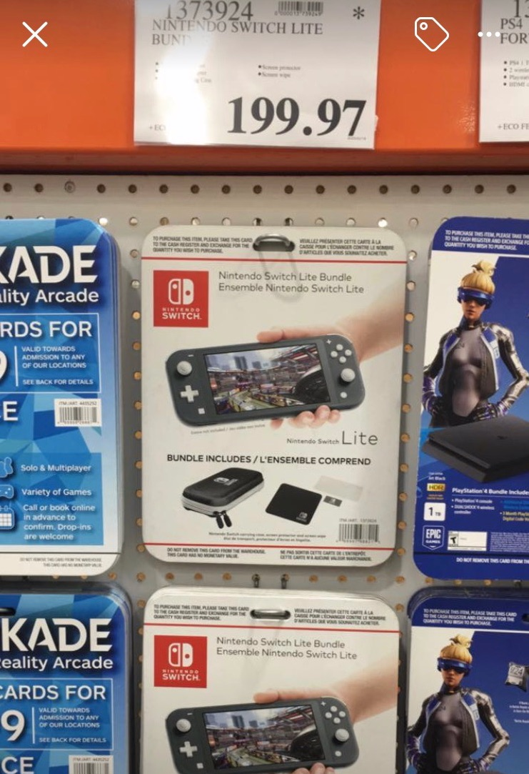 Lbabinz On Twitter Ymmv Grey Nintendo Switch Lite Is 199 97 At Costco Nanaimo Location Shown Here The nintendo switch lite is a more compact version of the nintendo switch that trades versatility and compatibility for a lower price and a smaller size, making. ymmv grey nintendo switch lite is