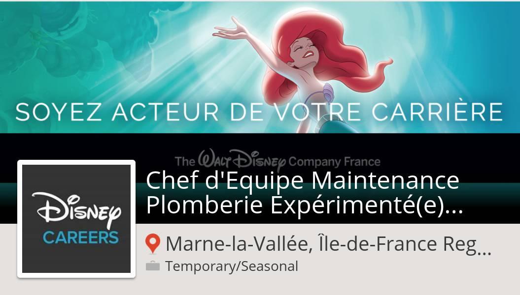 Nouvelle offre de #job chez #Disney #MarnelaVallee! #Chef d'Equipe #Maintenance Plomberie Expérimenté(e) - CDD H/F #DisneyJobs https://workfor.us/disneycareers/9928…pic.twitter.com/5KRG2dSAiX