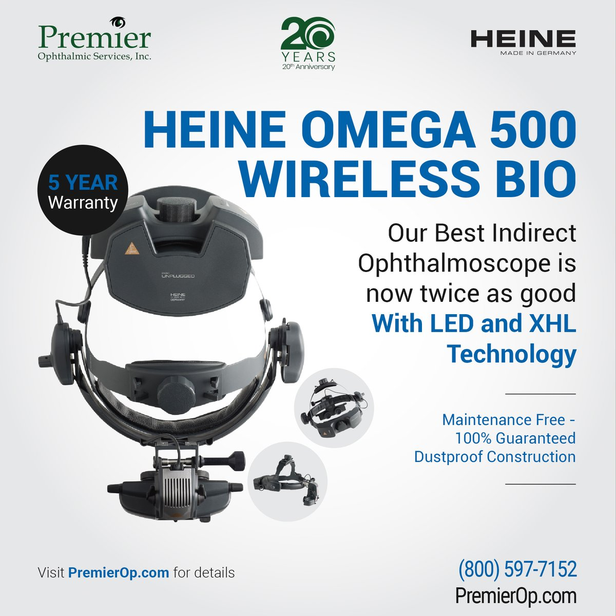 The maintenance free Omega 500 from Heine also includes a 5 Year Warranty. Comes with LED and XHL as standard! Learn more at http://bit.ly/31Z39UC #Optometry #Ophthalmology #Heinepic.twitter.com/GXVzVoZUJx