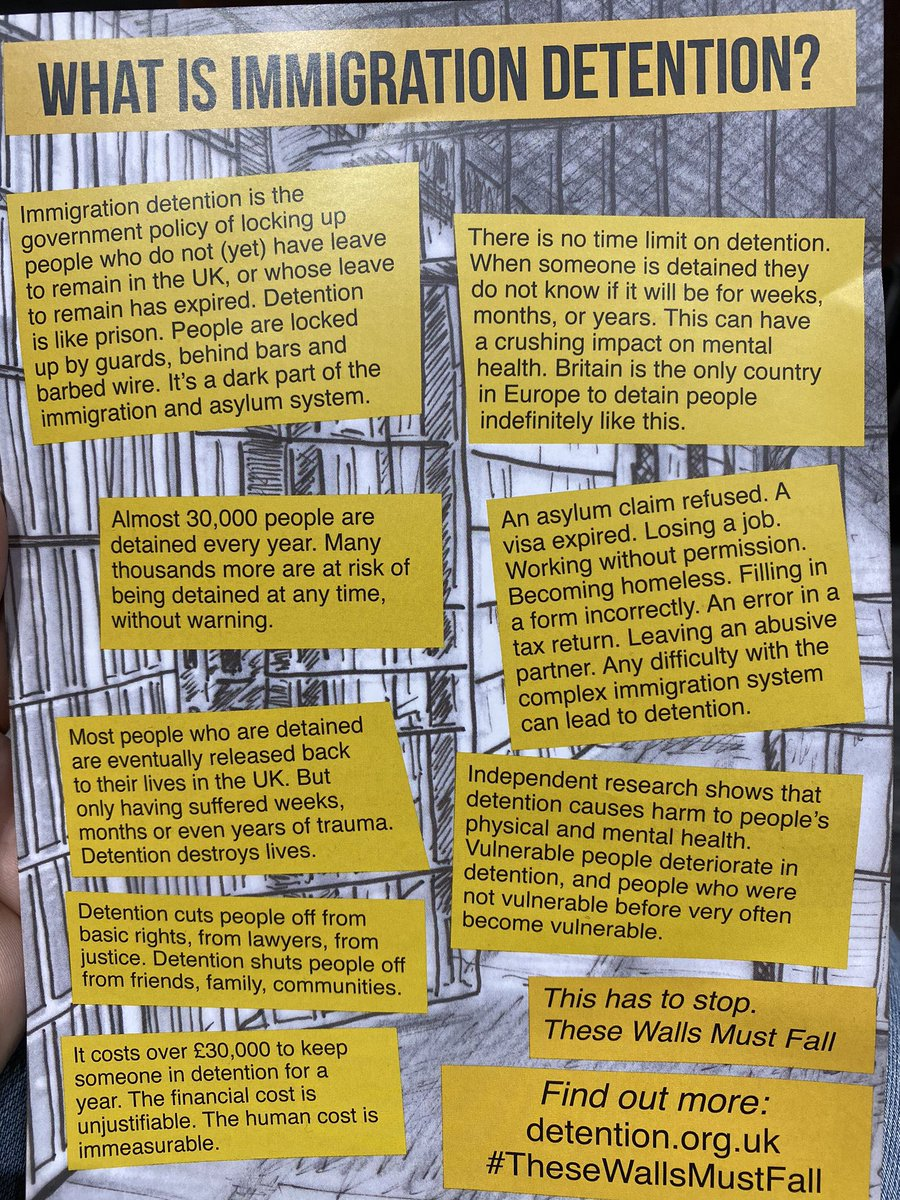 Some important information about Britain's immigration detention system provided by @wallsmustfall