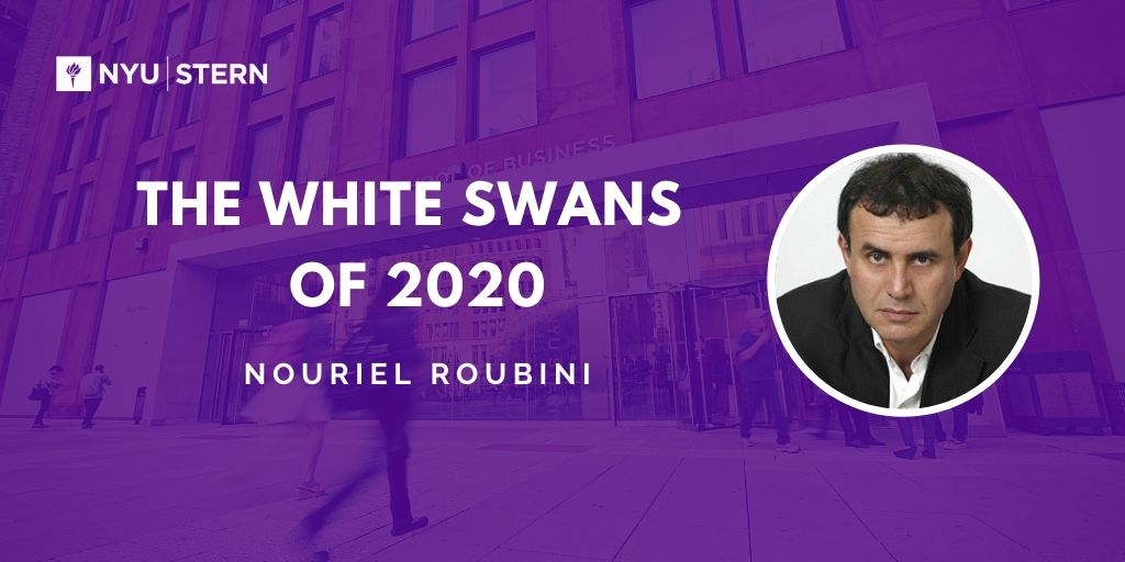 2020 White Swans: US-Iran war; COVID19 wrecks global economy;  US-China cold war escalates; 1st global cyberwar btw US & China/Iran/Russia/NK; nuclear option of China dumping US Treas reserves shocks bond yields; political violence in US; severe climate shocks; new GFC/recession