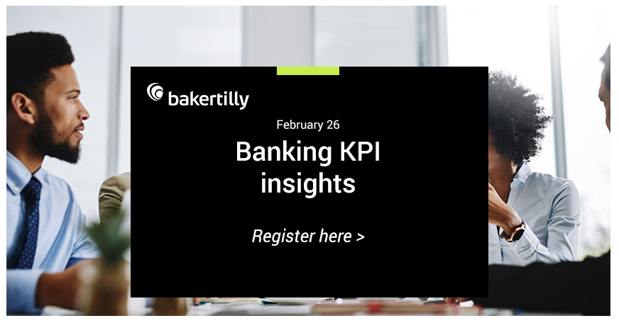 Join Baker Tilly's depository and lending industry leader for a timely perspective on the overall performance of the community banking industry during 2019 based on the comparative analysis of selected key performance indicators (KPIs).  https://go.bakertilly.com/banking-kpi-022620…pic.twitter.com/j8Q4brMWDN
