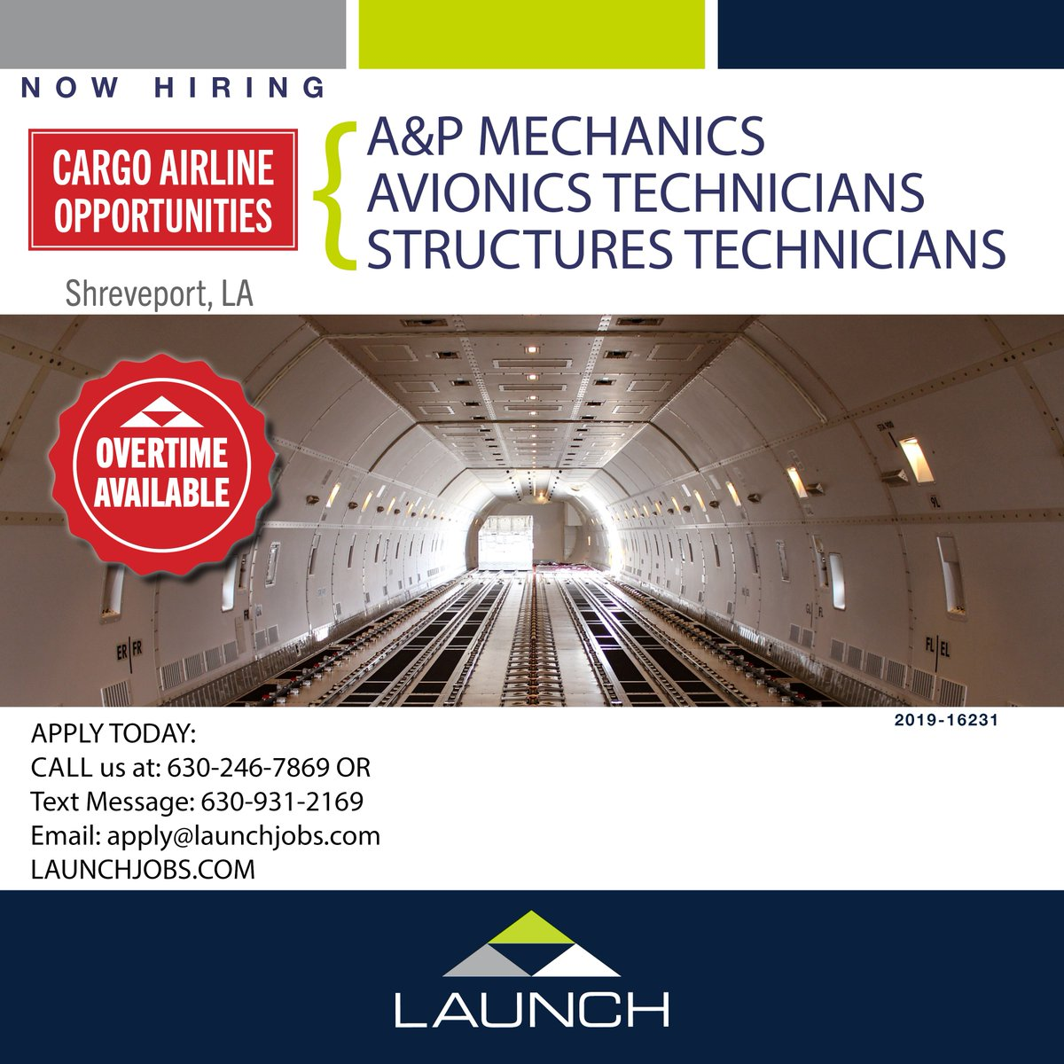 APPLY FOR THIS OPPORTUNITY DIRECTLY FROM OUR WEBSITE: https://www.launchtws.com/jobs/?city=shreveport…  #structures #sheetmetal #maintenance #repair #overhaul #install #technician #avionics #airline #cargoairline #aviationjobs #airframeandpowerplant #composites #hangar #aerospacepic.twitter.com/Xrb8uM2V5p