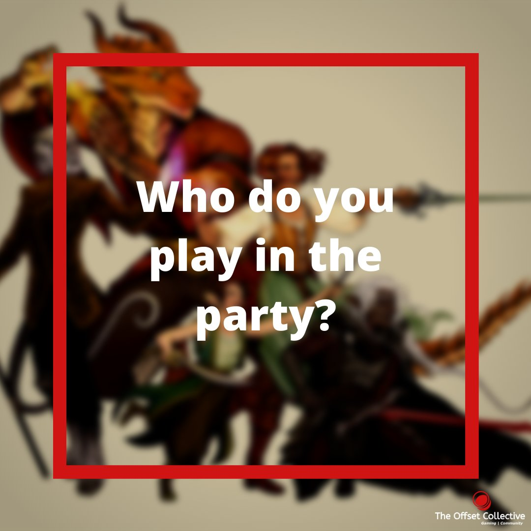 Everyone has a role. Everyone has a part to play. Who are you in the game and in real life? Draw your sword or ready your knowledge of the magical arts and come on an adventure with us ..  #tabletop #discord #gaming #WeAreTOC   Join here https://discord.me/theoffsetcollective… pic.twitter.com/y1UHw7fewc