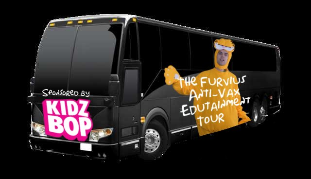 #YIAYbus alternate version. This Anti-Vaxxer furry is proudly sponsored by Kidzbop! <br>http://pic.twitter.com/BgD4uOaft7