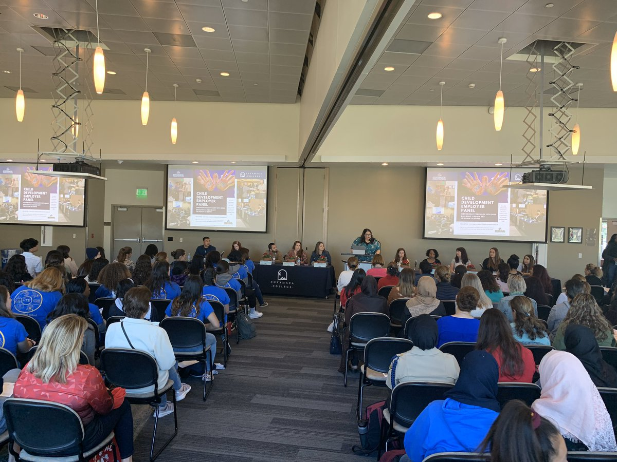 A packed house @cuyamacacollege for the Child Development Employment Panel. #GUHSDCTE