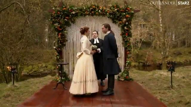 """Sorry, still choking up at """"as long as we both shall live."""" 😭 #Outlander"""
